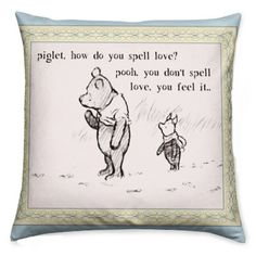 Winnie the pooh quote,PERSONALiSE WITH A NaME pillow, cushion, winnie the pooh, baby shower, special gift, rooby lane