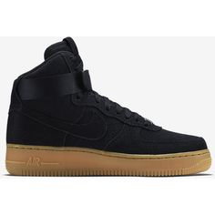 Nike Air Force 1 High Suede Women's Shoe ($130) ❤ liked on Polyvore featuring shoes, nike, sneakers, suede shoes, suede leather shoes, nike shoes and nike footwear