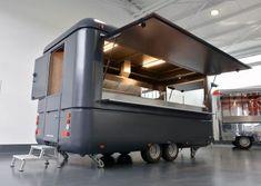 TypStartUp - Roka Werk GmbH Trailer Plans, Food Trailer, Food Trucks, Portable Pizza Oven, Mobile Food Cart, Food Vans, Food Truck Design, Coffee Truck, Food Stall