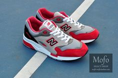 Men's New Balance 1600 Running Shoes CM1600CK Gray Red|only US$75.00 - follow me to pick up couopons.