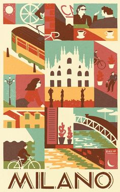 Milano - David Doran Illustration
