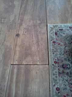plywood flooring... cost them 75 cents per sq ft including the stain and other supplies!