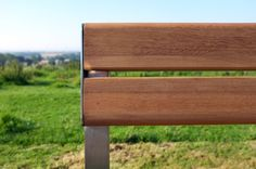 A view of the wood Murton seat. The slats are FSC® timber whilst the frame can be stainless steel or galvanised mild steel with a coloured powder coat to suit any scheme. http://factoryfurniture.co.uk/index/products/seating/murton-range/wood-murton-seat.html