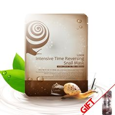 Lioele Intensive Time Reversing Snail Mask continuously injects a highly enriched essence into the skin, providing fast and effective nourishment and moisture into tough dry skin that lacks elasticity. Natural herbs improve hydration and elasticity into the skin, while witch hazel extracts balances moisture content. Plus, arbutin and adenosine instantly improve your skin with their excellent brightening and anti-wrinkle effect.  www.lioeletexas.com