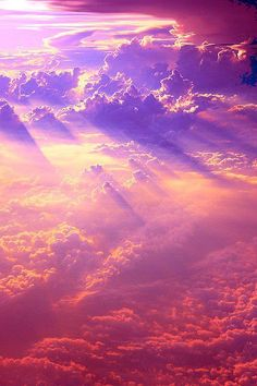One of my favorite color combos, pinks, purples, blues, colors of the swimming tides of unconscious psychic energy as well as the color of this spectacular sky of clouds!