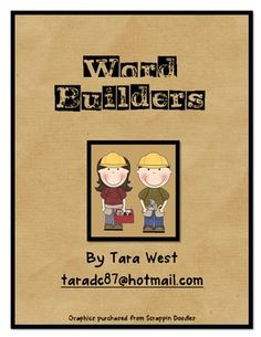 Word Builders- What's in a sentence?  Awesome teacher read aloud book!