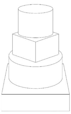 round turned square round square Wedding Cake Toppers, Wedding Cakes, Diy Wedding, Cake Size Chart, Design Your Own Cake, Cake Sketch, Food Coloring Pages, Cake Drawing, Cake Templates