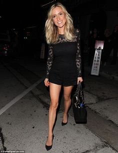 Pins parade: Kristin Cavallari showed off her legs in a very short romper as she left Craig's in West Hollywood after celebrating her book,Balancing In Heels, hittingThe New York Times Best Seller List, on Wednesday