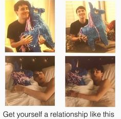 But what if phil was there instead of the piñata and when he got up he exchanged it for the piñata for the photo for the book...?
