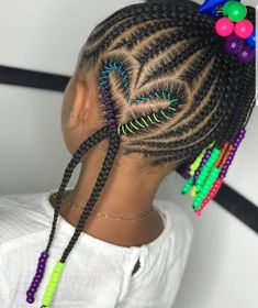 Little Girl Braid Styles, Kid Braid Styles, Little Girl Braids, Black Girl Braids, Girls Braids, Black Kids Hairstyles, Cute Little Girl Hairstyles, Baby Girl Hairstyles, Natural Hairstyles For Kids