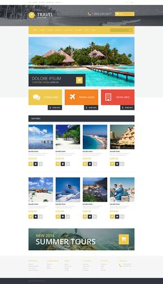 Travel Agency Responsive OpenCart Template #54745