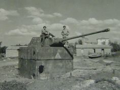 Pantherstelllung, Panther turrets as pill-boxes.