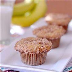 Leckere #Bananenmuffins mit knusprigen Streuseln. Das Rezept gibts auf Allrecipes Deutschland: http://de.allrecipes.com/rezept/2759/bananen-streusel-muffins.aspx