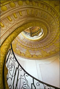 The staircase to the chapel at Melk Abbey, Austria