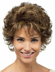 "Nadia wig Gorgeous collar length loose open curls. Features the innovative ""PURE STRETCH CAP"" construction."