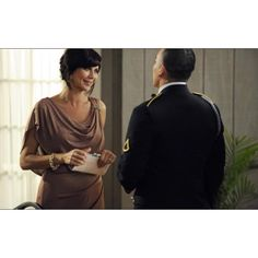 Denise Sherwood (Catherine Bell)'s gown at the Army Banquet - (Fallout) - WHERE can I obtain this dress? Military Girlfriend Marine, Navy Girlfriend, Military Love, Military Spouse, Military Ball, Catherine Bell, Amanda Holden, Army Wives, Band Of Brothers