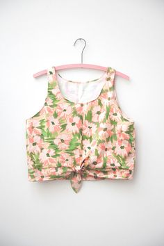 Floral TieFront Crop Tank by leahgoren on Etsy, $85.00