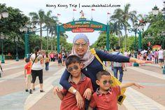 With Syafi n Syakir at the entrance of Disneland Hong Kong www.shakhalid.com