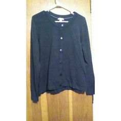 Black button up sweater Smoke free home worn 1 time White Stag Sweaters Cardigans