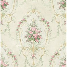 "Astoria Grand Tinoco Vintage Cameo 32.81' L x 20.5"" W Wallpaper Roll Color: Pink"