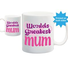 Worlds Greatest MUM, best ever mum mug, cup. Mothers day, birthday gift, anniversary gift, Christmas gift idea M0072 by LinaGifts on Etsy
