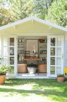 Are you planing make some a backyard shed? Here we present it to you 50 Best Stunning Backyard Storage Shed Design and Decor Ideas. Backyard Storage Sheds, Backyard Sheds, Outdoor Sheds, Shed Storage, Garden Sheds, Outdoor Play, Storage Ideas, Garden Shed Interiors, Outdoor Storage