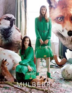 Tim Walker for Mulberry.  Oh Tim Walker.  How I do thee heart.