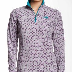 Glacier printed 1/4 half zip pullover Brand new. Perfect gift for Christmas! Very warm and cozy. The North Face Sweaters
