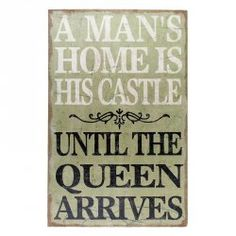 Obraz typograficzny - A MAN'S HOME IS HIS CASTLE