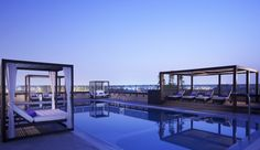 Our pool overlooking the old Dubai skyline.