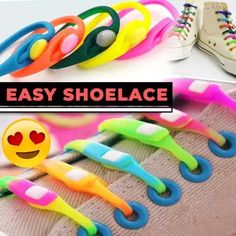 Easy Shoelaces(one size fits all) Purple Grey, Pink Yellow, New Radicals, White Sky, Crazy Colour, Cool Things To Buy, Stuff To Buy, Green And Orange, Cool Gadgets