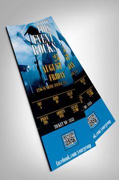 Concert event ticket by studioweb on Creative Market