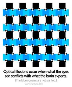 QUESTION: ARE ALL THE LINES CROKED OR STRAIGHT?  ANSWER: LOOK CLOSELY, LET YOUR EYES WONDER. THEY'RE STRAIGHT.