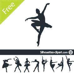 Ballerina silhouette Ballerina Tattoo, Dancer Tattoo, Ballerina Party, Silhouette Portrait, Silhouette Art, Stencils, Ballerina Silhouette, Paris Opera Ballet, Rainy Day Crafts