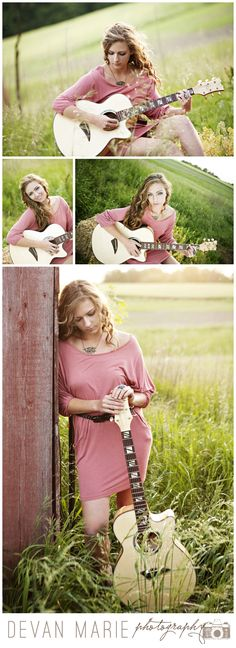 guitar, farm senior pictures, iowa photographer