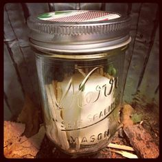 CW Daily:  Candle & matches jar.  Fill a jar with matches, a candle.  Cut out strike strip and fit securely between lids. Keep in home, car, tent for just in case events.