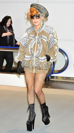Lady Gaga something is wrong with this chic anyway!!!