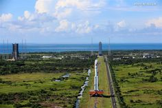 A brand new Chinese launcher powered by kerosene-burning rocket engines could take off on its first flight as soon as Saturday, also debuting a new spaceport on Hainan Island in the South China Sea. The Long March 7 rocket, tailored to send medium-class payloads into low Earth orbit, will become a centerpiece in China's new family of launch vehicles that will eventually replace the country's aging decades-old rocket designs. The launch window opens Saturday and extends through Wednesday.