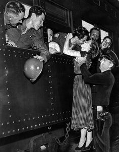 Leaving for maneuvers. California, 1950.