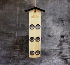 Mangeoire à oiseaux en bois suspendu, mangeoire à oiseaux modernes & support de graines oiseau, suspendre mangeoire à oiseaux