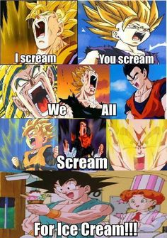 Dragon Ball Z Scream BAHAHAHA! I just dies XD