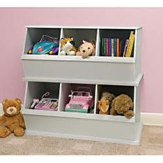 Three Bin Stackable Storage Cubby in White - Overstock Shopping - Big Discounts on Badger Basket Storage & Organization