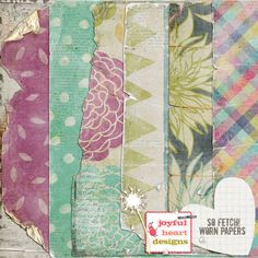 So Fetch! {worn & torn papers} :: Papers :: Memory Scraps