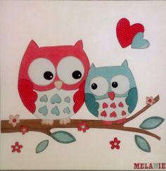 Cadre hibou, owl