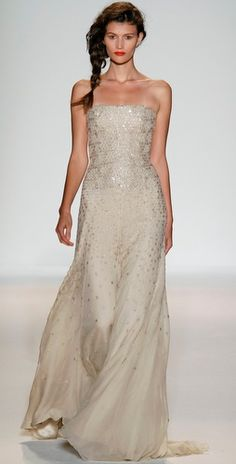 Lela Rose Strapless Gown with Crystals $4995.00 - omg i want... a girl can dream right? :)