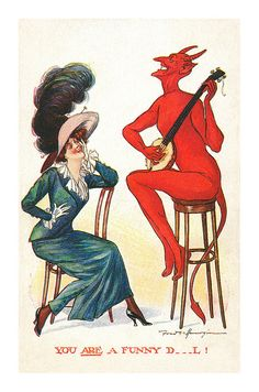 You Are A Funny Devil postcard | by totallymystified