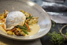 pan fried gilt-head bream, Bouillabaisse-style sauce from Brasserie Blanc