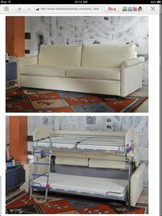 Furniture for my future tiny home or RV: Bestitaliansofa.com, stacking sofa bunk bed