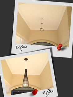 New DIY 240volt DIY renovation conversion pendants.