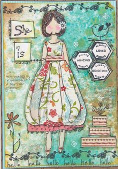 She is…amazing, beautiful, and loved! Kathryn Paigen shows us three creative ways to use the same stamp. See the rest in the summer issue of The Stampers' Sampler.